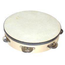 Tamburin med skinn - Ø20 cm.