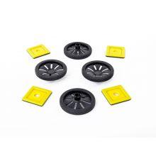 MAG Polydron | Tilbehør: Hjul | 8 deler