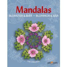 Mandalas Malebok - Blomster og bær