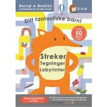 Aktivitetsbok: Tegninger - Streker - Labyrinter