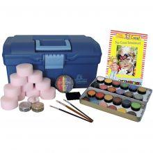 Ansiktsfarge - Koffert m. 24 farger og tilbehør