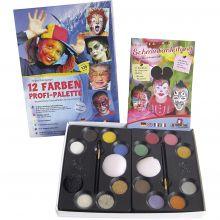 Ansiktsfarge - Palett m. 12 farger og idéer