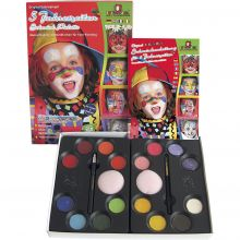 Ansiktsfarge - Palett m. 16 farger og idéer