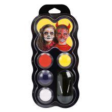 Ansiktsfarge - Palett m.  4 farger - Halloween