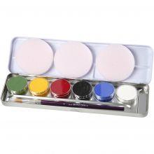 Ansiktsfarge - Palett m. 6 farger, Basis