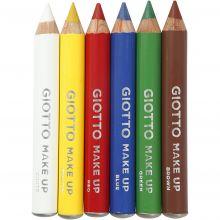 Ansiktsfarge - Sminkeblyanter, Basisfarger 6 stk