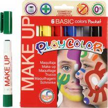 Ansiktsfarge - Tegnestifter Basisfarger, 6 stk