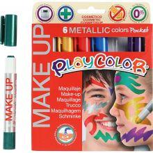 Ansiktsfarge - Tegnestifter Metall, 6 stk