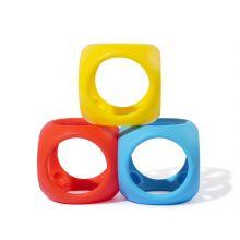 Babyball i silikone - Basis farger, 3 stk.