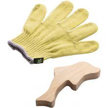 Beskyttelseshandske til snittekniv