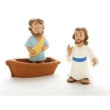 Bibelsk figursett - Jesus går på vannet