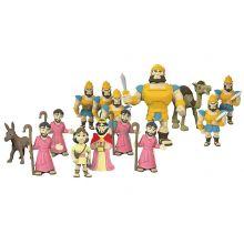 Bibelsk figursett - David & Goliat, 16 deler