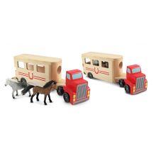 Biltransporter med hester