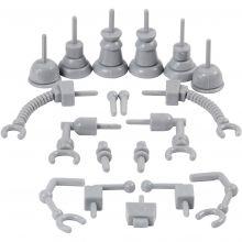 Dekorasjonsdeler - Robot, 19 stk