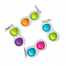 Dimpl - Boblepanel nøkkelring (ass. farger) 1 stk.