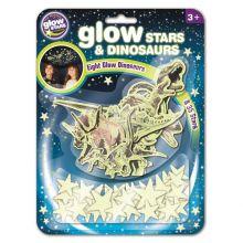 Glow - Dinosaurer + stjerner, 43 deler