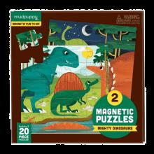 Magnetisk puslespill - Dinosaur, 2 x 20 brikker