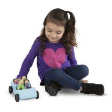 Dukkehus tilbehør - Bil med familie