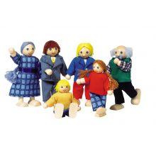 Dukkehus - Dukkefamilie, inkl. besteforeldre