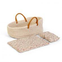 Dukkeseng strikket - bærebag til dukke 30 cm