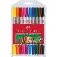 Faber Castell Tusjer dobbelt 10 stk.
