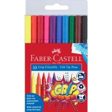 Faber Castell Tusjer Grip 10 stk.
