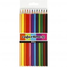 Fargeblyanter - Ass. farger, 12 stk