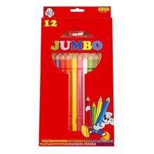 Fargeblyanter Jumbo 12 stk.