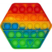 Fidget Pop It - Åttekantet / Regnbue, 1 stk