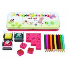 Fingeravtrykk sett m. stempler