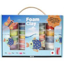 Foam Clay i gaveeske, 28 bøtter + verktøy