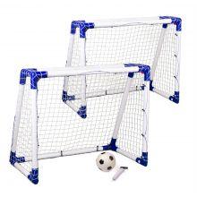 Fotballmål Junior 2 stk. - 110 x 90 x 60 cm.