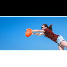 Frisbee Ø26,5 cm. (ass. farger), 1 stk.