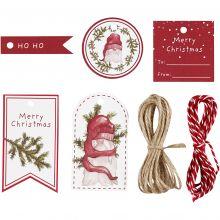 Gave etiketterr - Klassisk jul, 25 stk