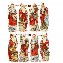 Glansbilder - Julenisser, 3 ark