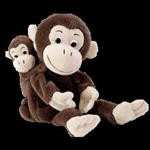 Hånd- & fingerdukker - Apemamma med apeunge
