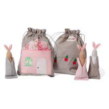 Historiepose i stoff - Kaniner