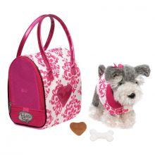 Hund i veske, pink - Schnauzer