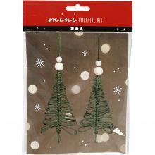 Julepose - Macrame juletrær