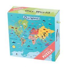 KJEMPE puslespill - Verden vår, 25 brikker