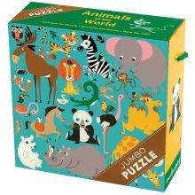 STORT puslespill - Verdens dyr, 25 brikker