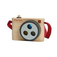 Kamera i tre med 3 fargede linser