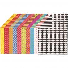 Kartong A4 - Mønstre, 20 ass. ark