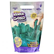 Kinetic Sand - Turkis m. glitter, 900 gram