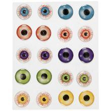 Klistremerker - Øyne 3D, Ø 20 mm, 1 ark