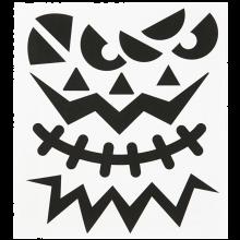 Klistremerker - Halloween, ansikter, 1 ark