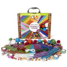 Krea-koffert - Glitter, 350 deler
