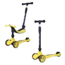 Sparkesykkel/Løpesykkel - Kick'n'Ride, Gul