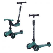 Sparkesykkel/Løpesykkel - Kick'n'Ride, Mørkegrønn