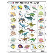 Larsen puslespill - Lær om dinosaurer, 35 brikker